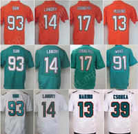 Wholesale Suh Jersey - Color Rush 93 Ndamukong Suh Jersey Men 14 Jarvis Landry 17 Ryan Tannehill 91 Cameron Wake 13 Dan Marino 39 Larry Csonka Green White Orange
