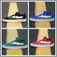 Wholesale lighting totem online - 2018 New arrival Revenge X Storm old skool Classic black white red blue green light men and women Casual Shoes sneakers skateboard shoes