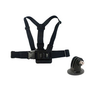 Wholesale Gopro Adapters For Chest Mount - For GoPro Accessory Chest Strap Mount Belt Band With Tripod Mount Adapter For GoPro Hero 5 4 3+ SJCAM M20 SJ5000 SJ6 GP58