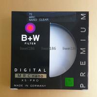 Wholesale protective lens filter online - B W UV mm MC UV Filter XS PRO MRC Nano Haze Black Almite Frame BW UV Protective Multi Resistant Coating Optical glass For camera Lens