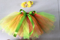 HOT colore della caramella gonna tutu bambino con abiti da ballo bowknot gonna balletto gonna party gonna a bolle kint a mano regalo di natale 1 pz / lotto