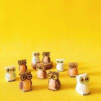 ingrosso fate in vendita in miniatura-vendita ~ 20 Pz / gufi / miniature / animali belli / fairy garden gnome / moss terrarium decor / artigianato / bonsai / bottiglia da giardino / decorazioni da tavola / r007