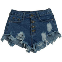 Wholesale Destroyed Jeans Shorts - Hot Sale 5 Colors Vintage ripped Denim Women Shorts Sexy Summer Hole Destroyed Shorts Jeans High Waisted Jeans Short