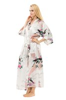 Großhandel-Frauen Gorgeous Kimono Robes Sleepwear Nachthemden - Peacock Muster, Long Robe