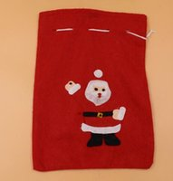 Wholesale children christmas gift bags for sale - Group buy New Arrive Merry Christmas Decoration Santa Claus Kids Candy Bag Home Party Decor Gift To Children