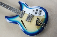 12 Strings blue chords - ALLNEW12 paragraph string electric guitar wood color blue semi hollow complex chord piano