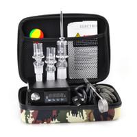 slim mini cigarro eletrônico venda por atacado-Prego de Quartzo barato Kit Dab Prego Elétrico Completo com Controlador de Temperatura 100 w para Rig Óleo De Vidro Bongs tubulação de água