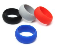 Wholesale Mixed Color Silicone Rubber Band - Mix Color Unisex Flexible Hypoallergenic Rubber Silicone Ring Wedding Outdoor Sports Band Ring Colorful 5000pcs Free Shipping