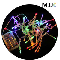 Wholesale Orange Led Net Lights - 2M Battery Operated 20 LED Multicolor Light String Fairy Lights for Party Wedding Christmas Holidays Decorations