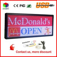 P6 Outdoor Full-Color RGB LED Sign Wireless e USB Informações de rolamento programáveis ​​40