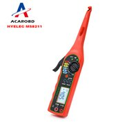 Wholesale Pen Type Digital Multimeter - Digital Multimeter 2000Counts Pen Type with Non Contact HYELEC MS8211 ACV DCV Electric Handheld Tester Multitester Free shipping