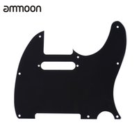 Wholesale pick guard guitar - Wholesale- Pickguard Pick Guard 3Ply Construction for Telecaster Standard Modern Style Electric Guitar Black