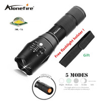 Wholesale Waterproof Tactical Flashlights - AloneFire G700 E17 Bright XML T6 3800LM LED Tactical Flashlight Portable Waterproof Torch with Adjustable Focus and 5 Modes for Camping
