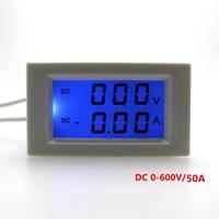 Wholesale digital voltmeter dc power supply resale online - DC V A Digital dual display ammeter voltmeter DC Voltage Current Meter Power supply DC V With Blue Backlight