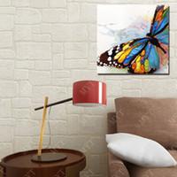 ingrosso pittura a olio di trasporto di goccia-Farfalle realistiche dipinti a mano su tela decorazione di arte drop shipping home goods pittura a olio per la decorazione di paesaggi da parete