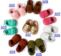 Wholesale sandal prewalker resale online - New high quality Summer baby moccasins sandals soft soles and elastic baby RUBBLE shoes prewalker Infant Babies Shoes colors
