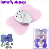 Wholesale Electronic Muscle Arm Leg - New Mini Electronic Body Muscle Butterfly Massager Slimming Vibration Fitness Personal Care for Body Arm Leg Massage