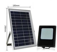preço do sensor de luz venda por atacado-Preço de fábrica jardim sensor de iluminação solar levou luz de inundação solar levou lanterna 120 pcs 3528led com painel solar 6 W