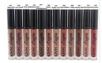Wholesale High Quality Wholesale Lingerie - High-quality   lowest price NEW MAKEUP NYX LIP LINGERIE MATTE Nude velvet liquid lipstick   lipgloss 12 color