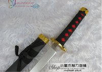 Wholesale Prop Katana - Wholesale-High Quality Touken Ranbu Online Nakigitsune Katana Wooden 55CM Long Cosplay Prop Samurai Sword