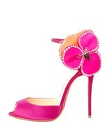 Wholesale Shoes Artificial Flowers - Artificial Diamond Big Flower High Heel Shoes 12CM Ultrahigh Heel Shoes Stiletto Heel Shoes Peep Toe