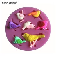Wholesale Bird Molds - Different kinds of cute bird shape silicone mold , fondant candle molds, chocolate moulds, silicone molds for cakes
