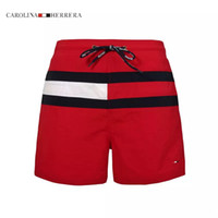 Wholesale Red Brand Swim - 2017 New Fashion Mens Shorts New Brand Casual Solid Color Board Shorts Men Summer style bermuda masculina Swimming Shorts Men Sports Short