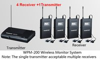 Wholesale Takstar Ear Monitor System - 2014 Takstar WPM-200 UHF Wireless Monitor System Stereo In-Ear Wireless Headphones Transmitter 1pcs+Receiver 4pcs Free shipping