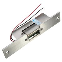Wholesale electric strike door lock - Wholesale-Stainless Door 12V DC Fail Safe NO Narrow-type Door Electric Strike Lock For Access Control Power Locks Security Safely