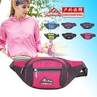 Wholesale Running Phone Belt - Fashion Outdoor Men Women Waist Pack phone Bag Unisex Sport Running Nylon Waistband for accessory men Small Travel Belt Bag free shipping