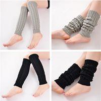 Wholesale Ladies Fashion Boots Wholesale - 2017 Fashion sexy Korea Leggings Socks Kneepad Women's Ladies' Warm Wool Knit Crochet Cuffs Winter Leg Warmer Boot Socks free shipping