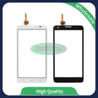 Wholesale New Hot 3x - For Huawei Honor 3X G750 Touch Screen Digitizer Outer Glass Lens Panel New Hot Replacement Parts Black White Free Shipping