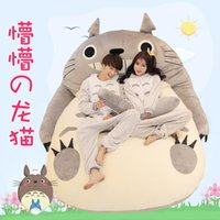 Wholesale totoro bed - 1 M M Single bed Plush Toy Tatami Mattress Lovers Gift Animals Mattress Cartoon Totoro Bed For Adult Styles Memory Foam Mattress