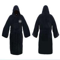Wholesale Black Terry Robe - Best selling robes Darth Vader Coral Velvet Terry Jedi adult bath robe Halloween Costume Men's pajamas