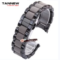 Wholesale Applied Steels Stainless - Wholesale-Baotou plastic watch band 22mm 24mm stainless steel strap black male Original applies AR1451 AR1452