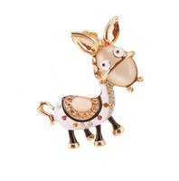 Wholesale Donkey Key Chain - 2016 fashion Charm Donkey Keychain Crystal Keyring Rhinestone Pendant Bag Key Chain Ring