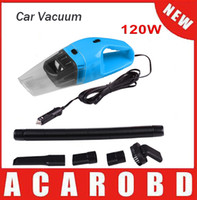 Wholesale Vaccum Cleaners - 5M 120W 12V Car Vacuum Cleaner Super Suction Wet And Dry Dual Use Vaccum Cleaner For Car with blue color shipping