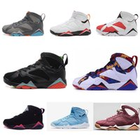 Wholesale Leather Men Sweaters Black - High Quality 7 7s Bordeaux Hare Olympic Tinker Alternate Men Basketball Shoes 7s Sweater UNC French Blue GMP Raptor Sneaker