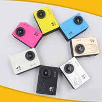 Wholesale Gopro Wide Angle Camera - h9 action camera 4k Ultra-high definition Waterproof mini gopro WiFi diving outdoors 1080P Wide angle of 170 degrees go pro