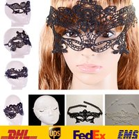 Wholesale Sexy Costume Mask - Sexy Lace Party Masks New Women Ladies Girls Halloween Xmas Cosplay Costume Masquerade Dancing Valentine Half Face Mask HH-M01