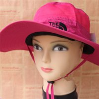 Wholesale Sun Visor Helmets - The Sun hat North sports face Fisherman hats outdoors hiking waterproof couple cap sun helmet adjustable round caps autumn Summer Unisex