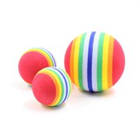 Wholesale Toy Foam Balls - Colorful Dog Chews Balls Training Interactive Rainbow Foam Fetch Balls Toy Funny Bite Resistant Cat Toys Cute 1 93hz2 B