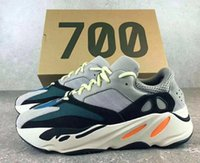 Wholesale Reflective Outdoor - 700 Runner 2017 Kanye west 700 Wave Runner 36-46 with reflective stripe with box New 700 Shoes 350 boost v2 shoes mixed 2017 v2 shoes
