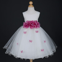 Wholesale Infant Flower Girls Dresses Ivory - New Ivory Butterfly Petals Easter Pageant Infant Wedding Flower Girl Dress