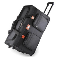 """Wholesale Extended Cases - Wholesale-26""""32"""" extended trip packing case Rollaway oxford wheel Rolling Waterproof trolley luggage bag travel bag,Checked hand"""