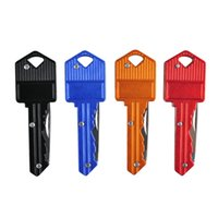 Wholesale Mini Gear Chain - Hot Sale Portable Foldable Key Chain Knife Pocket Mini Camping Key Ring Knife Multifunction Outdoors Gear 4 Colors 2504013