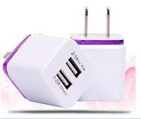 Wholesale Chargeur Usb - PRISE CHARGEUR ADAPTATEUR SECTEUR DE VOYAGE DOUBLE USB 5V 2A (BLANC)