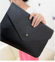 Wholesale Cheap Leather Crossbody Bags - Cheap Women Envelope Bag Pu leather Handbag shoulder bags Ladies Crossbody Sling Messenger Bag Purses Blue Black Brown 12 colors