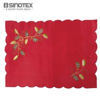 Wholesale Tablecloths Mat - Wholesale- 1pcs lot Table Place Mats Pad Embroidered Tablecloth Placemats Dining Tray Cloth Kitchen Pot Traycloth Openwork Tableware
