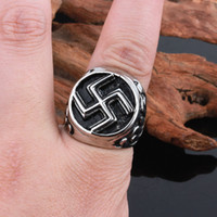 Wholesale mani padme - Size #8-12 Punk Om Mani Padme Hung Style Rings Jewelry Stainless Steel Gothic Ring For Men